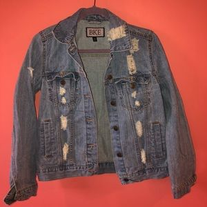 BKE Distressed Jean Jacket
